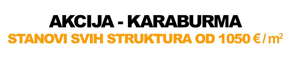 Graditelj inzenjering / Akcija Karaburma, stanovi svih struktura od 1050 eur po metru kvadratnom