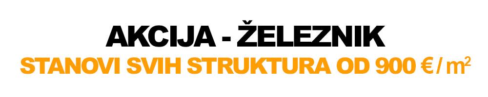 Graditelj inzenjering / Akcija Zeleznik, stanovi svih struktura od 900 eur po metru kvadratnom